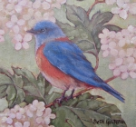 Bluebird and Hydrangea