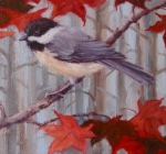 Chickadee&JapaneseMaple1