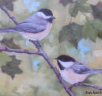 Summer Chickadee Pair