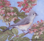 Titmouse and Hydrangea