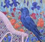Monets Garden Crow