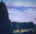 Hayfield at Twilight